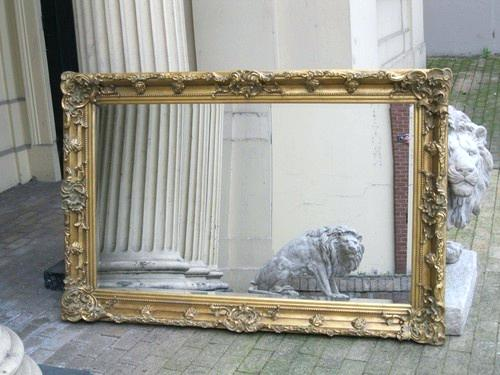 large antique mirror antique gold big large ornate rococo chunky mirror