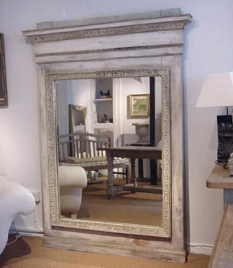 large antique mirror large painted mirror