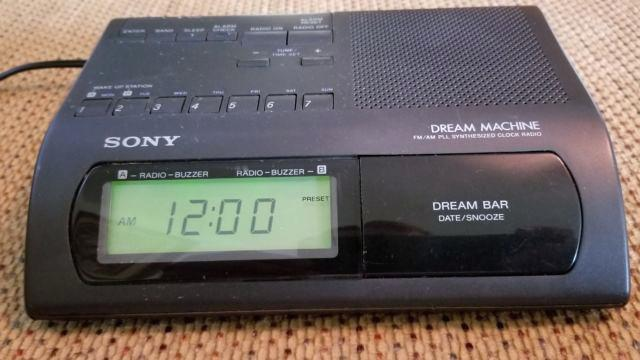 sony dream machine clock dream machine model am synthesized black clock radio