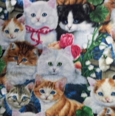 cat fleece fabric kitty cats premium soft fleece fabric by the yard