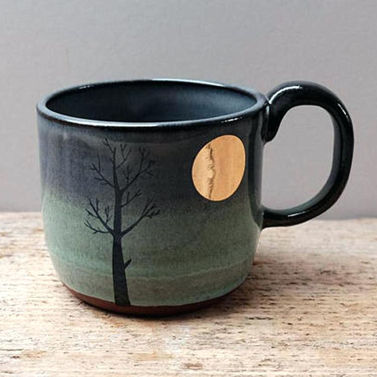 ceramic lighter smith ceramics lighter gold moon tree mug