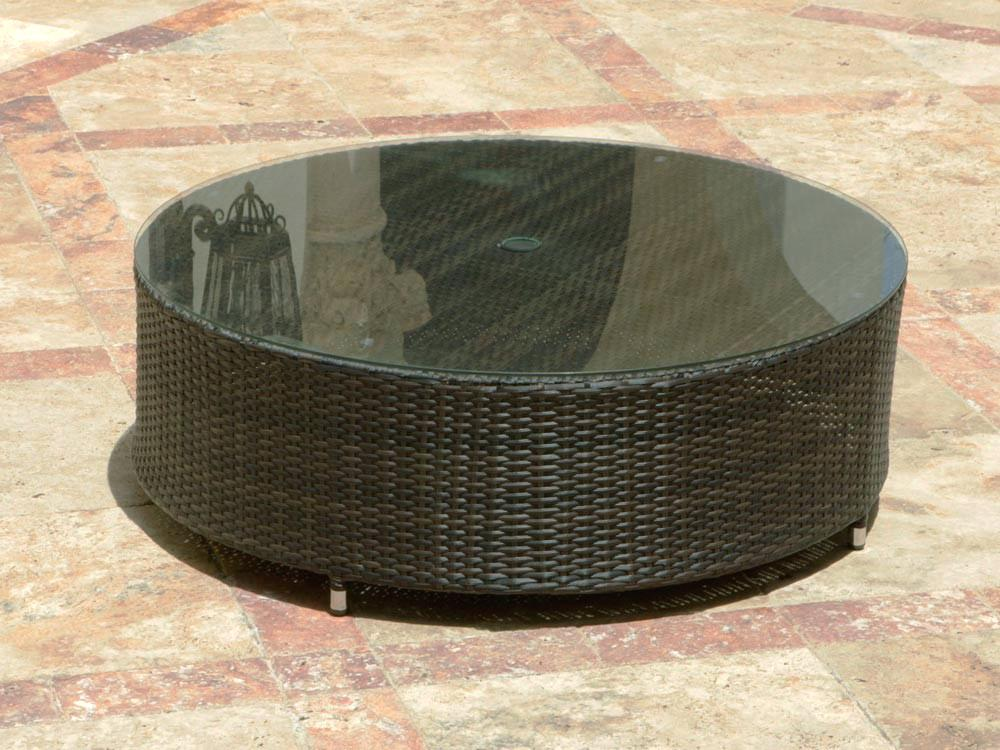 outdoor patio coffee table outdoor round wicker coffee table