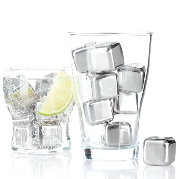 stainless steel ice cubes set of 6 stainless steel ice cubes