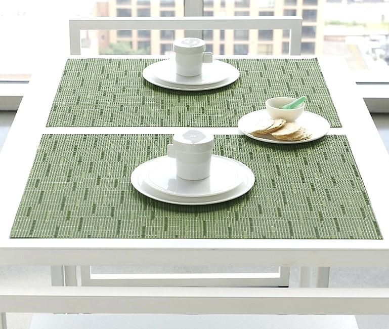 chilewich oval placemats bamboo rectangle by