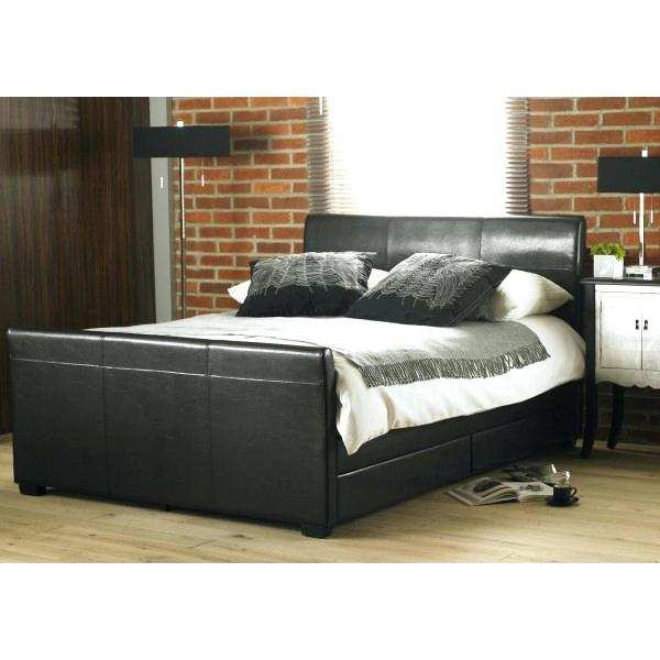 faux leather bed frame 4 drawer black faux leather bed frame leather