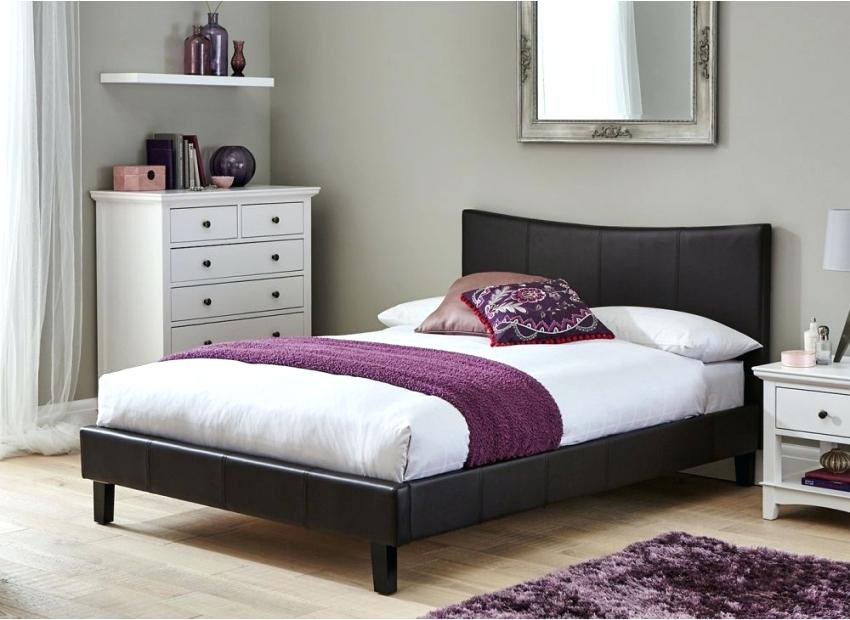 faux leather bed frame bed frame brown faux leather dreams leather bed frame