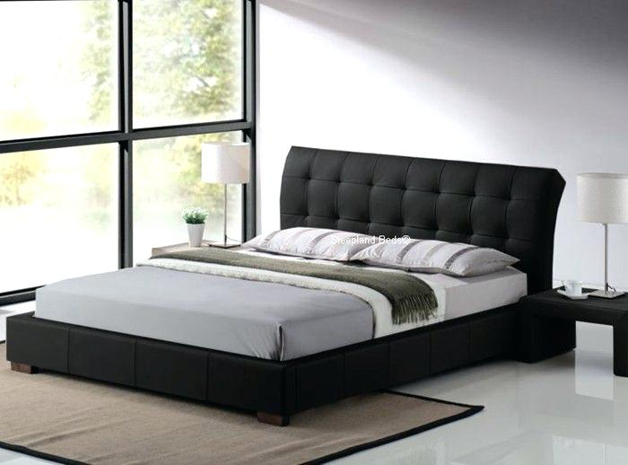 faux leather bed frame contemporary black faux leather bed frame