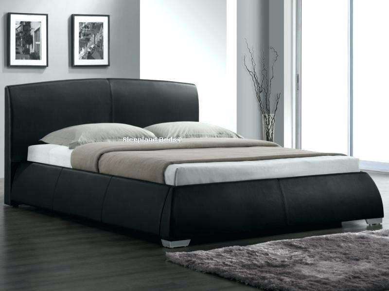 faux leather bed frame luxury black faux leather bed frame