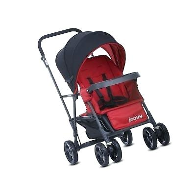 joovy caboose sit and stand caboose graphite stand on tandem stroller red