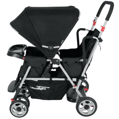 joovy caboose sit and stand caboose too ultralight stroller black
