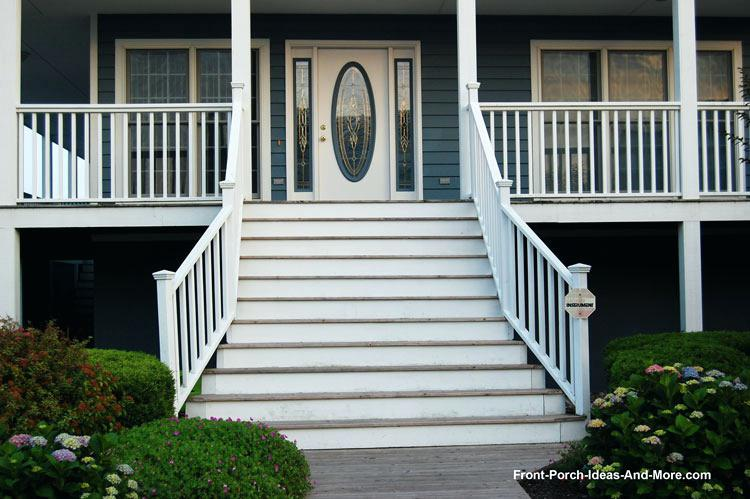 front porch stairs and wide front porch steps