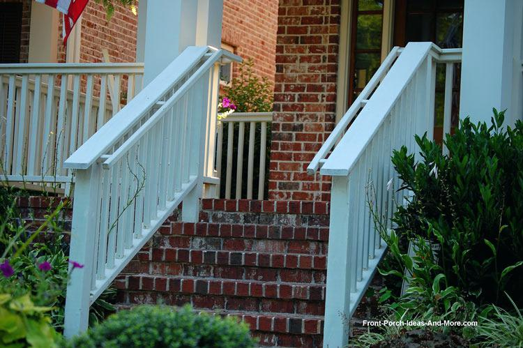 front porch stairs porch stair hand rails and beautiful landscaping