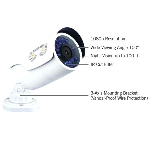 night owl camera wires night owl b security camera with night vision