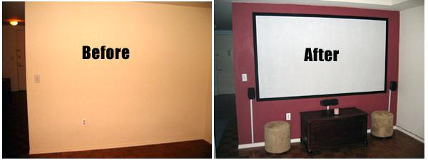 paint for projector screen goo before