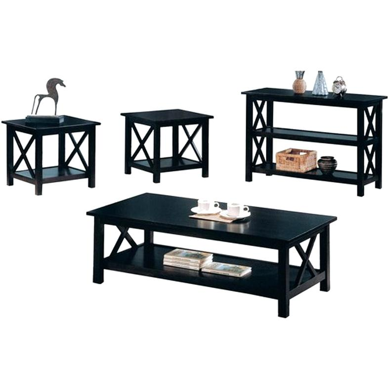 black coffee table sets black wood coffee table set
