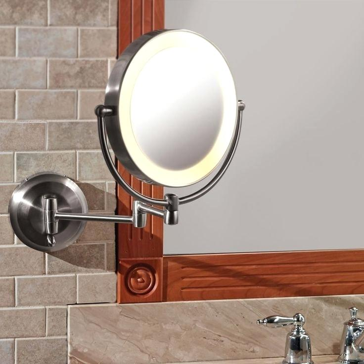 cordless vanity mirror battery powered wall mount mirror
