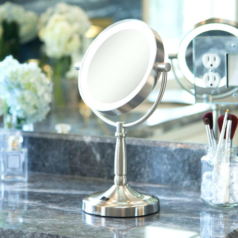 cordless vanity mirror cordless dual sided led lighted makeup shaving mirror
