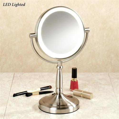 cordless vanity mirror cordless led vanity mirror satin nickel