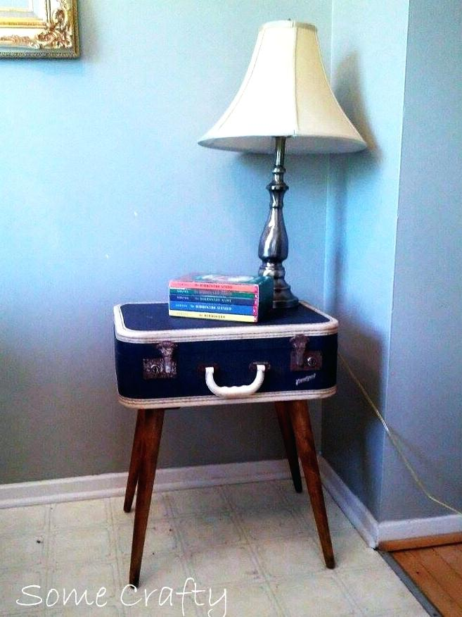 vintage suitcase table a unique side table