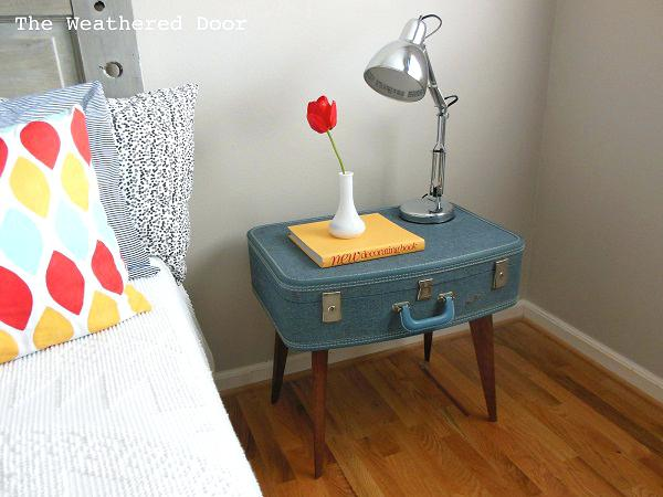 vintage suitcase table view in gallery blue vintage suitcase nightstand
