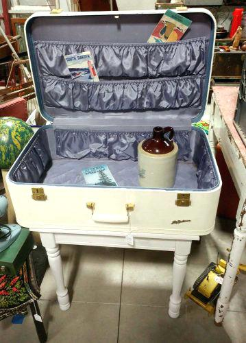 vintage suitcase table vintage suitcase table