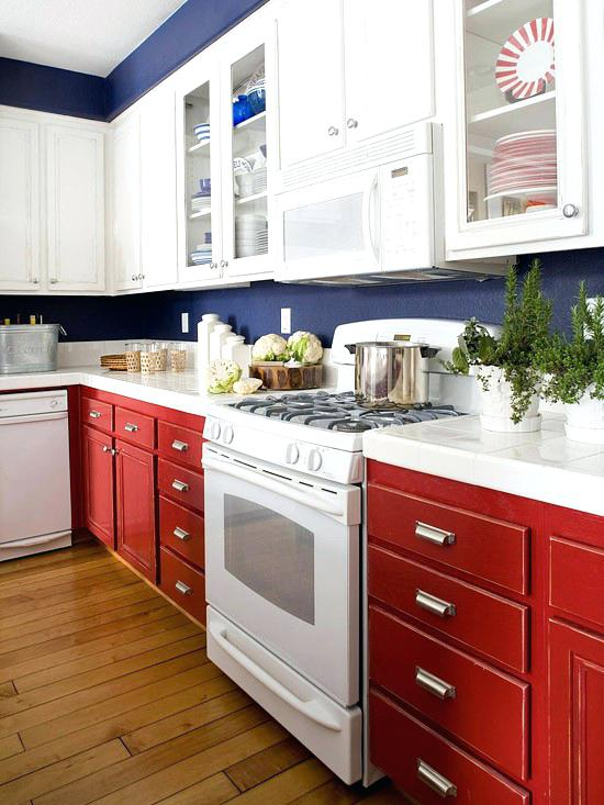 blue white kitchen red white and blue kitchen