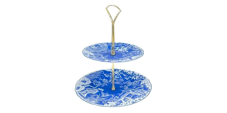 two tier cake stands royal crown derby mikado 2 tier cake stand blue